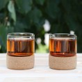 Комплект склянок 2шт на корковій підставці 200 мл Herisson