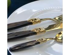 Набор столовых приборов 24ед. GOLD BROWN PEARL Domus&Design