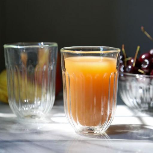 Комплект стаканів з подвійним склом 360мл Infusion Flower 2од.