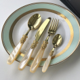 Набор столовых приборов 24ед. GOLD CHAMPAGNE PEARL Domus&Design