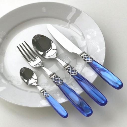 Набор столовых приборов 24ед. STEEL BLUE PEARL Domus&Design