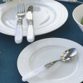 Набір столових приборів 24од. STEEL WHITE PEARL Domus&Design