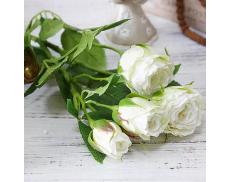 """Искусственный цветок """"Роза белая"""""""