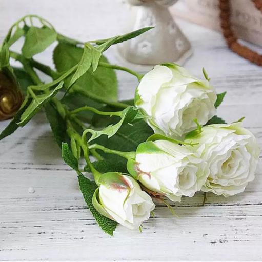 """Штучна квітка """"Троянда біла"""""""