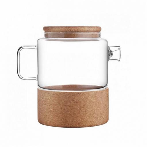 Заварник для чаю на корковій підставці 1л Herisson