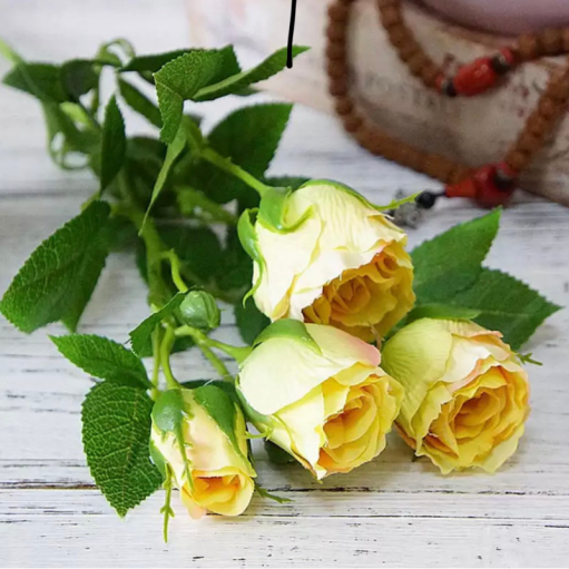 "Штучна квітка ""Троянда персикова"""
