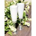 Комплект білих келихів для шампанського 2од Sakura 200 мл