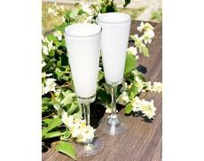 Комплект белых бокалов для шампанского 2ед Sakura 200 мл