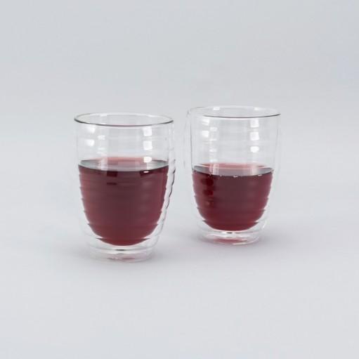 Комплект стаканов с двойным дном 370 мл