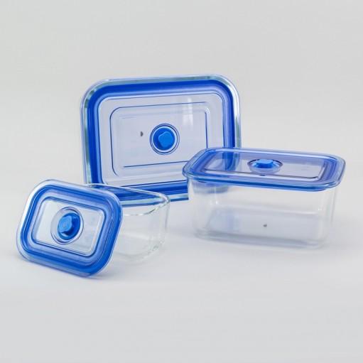 Набір скляних контейнерів 3 в 1
