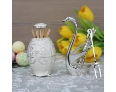 Комплект виделок для фруктів 6шт на підставці Swan Silver