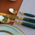 Набір столових приборів на 6 персон 24од. Laura oro green Rivadossi