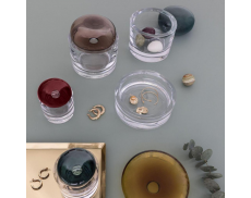 Ваза для украшений Ecrin Amber с крышкой Nude glass