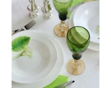 Комплект зелених келихів для шампанського 2од Sakura 220 мл