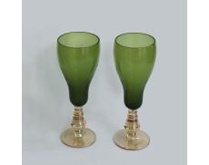 Комплект зеленых бокалов для шампанского 2ед Sakura 220 мл