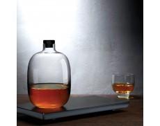 Графин для віскі 1100 мл на дерев'яній підставці Malt Nude Glass
