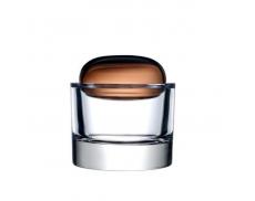Ваза для украшений Ecrin Caramel с крышкой Nude glass