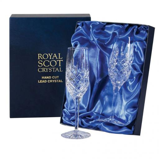 Комплект хрустальных бокалов для шампанского