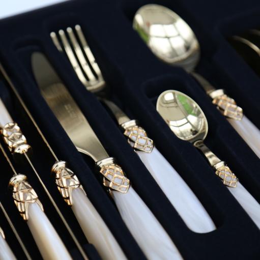 Набір столових приборів 24 од. GOLD CHAMPAGNE PEARL Domus&Design