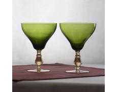 Комплект зелених келихів для червоного вина 2од Sakura 450 мл