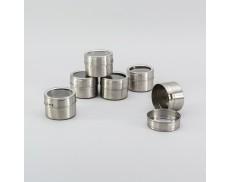 Комплект ємностей для спецій 6 шт на магнітах Herisson
