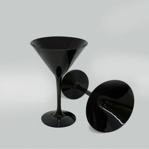 Комплект чорних келихів для мартіні