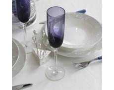 Комплект фиолетовых бокалов для шампанского 2ед Sakura 220 мл