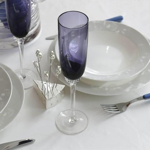 Комплект фіолетових келихів для шампанського 2од Sakura 220 мл