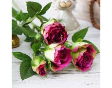 """Искусственный цветок """"Роза бордовая"""""""