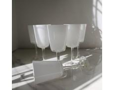 Набір білих келихів для білого вина 6шт Sakura