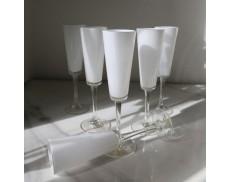 Набір білих келихів для шампанського 6шт Sakura