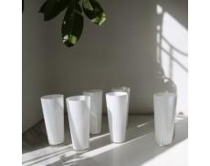 Набір білих склянок 6шт Sakura